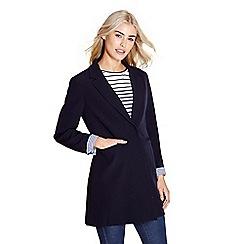 Yumi - Navy crepe blazer with stripes