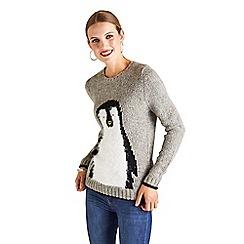 Yumi - Textured penguin jumper
