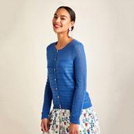 6a76cec45ed Yumi Ivory ripple stitch lace cardigan