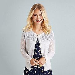 f8c79becbb Yumi - Ivory ripple stitch lace cardigan
