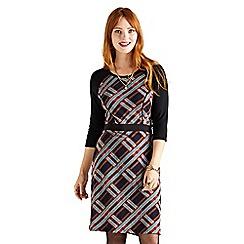 Yumi - Multicoloured retro check 'Asacia' day dress