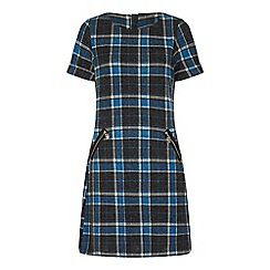 Yumi Curves - Blue patterned 'Bren' tunic dress