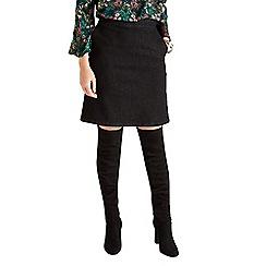 Yumi - Black a-line denim skirt