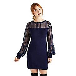Yumi - Navy lace knitted 'Beckey' tunic dress