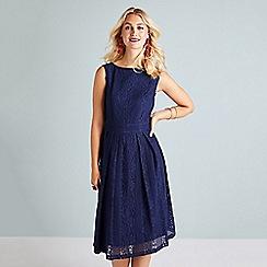 Yumi - Navy Lace Midi Dress