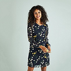 Yumi - Navy Daisy Tunic Dress