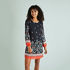 Yumi - Navy ditsy floral 'Eldine' tunic dress