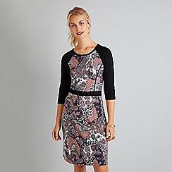 Yumi - Multicoloured paisley print 'Eljean' bodycon dress