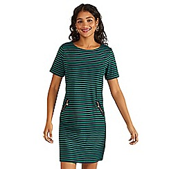 Yumi - Green stripe shift dress