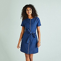 Yumi - Blue denim 'Elisya' shift dress