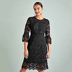 Yumi - Black lace 'Eliany' bodycon dress