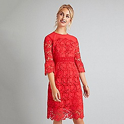 Yumi - Red lace 'Elicia' bodycon dress