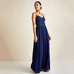 Yumi - Navy Party Maxi Dress