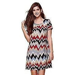 Yumi - Multicoloured zig zag print tunic dress