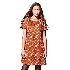 Yumi - Orange daisy pattern tunic