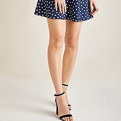 Yumi - Blue floral daisy print skirt