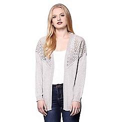 Yumi - Grey long sleeve cardigan