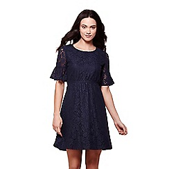 Yumi - Navy lace tea dress