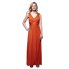 Yumi - Bronze pleated maxi dress
