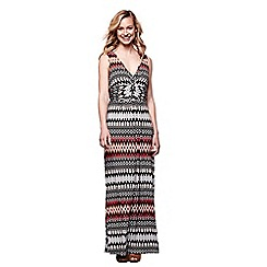 Yumi - Multicoloured sleeveless aztec maxi dress