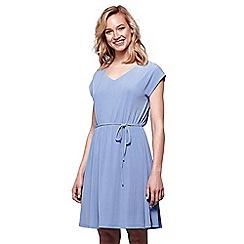 Yumi - Blue tie waist midi dress