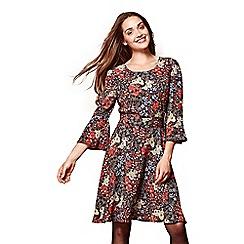 Yumi - Multicoloured floral print 'Alanna' mini skater dress