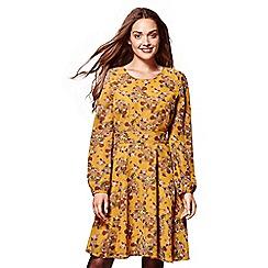 Yumi - Yellow floral print 'Elif' skater dress