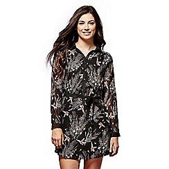 Yumi - Bird patterned shirt dress