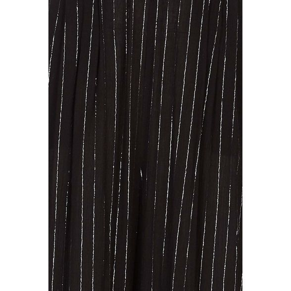 Black jumpsuit pinestripe sleevless Yumi lurex Svqw0AA