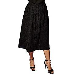 Yumi - Black metallic pleated skirt