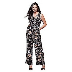 Yumi - Peacock and flower print jumpsuit