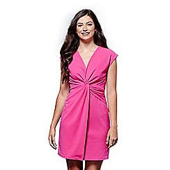 Yumi - Pink twisted ruched dress