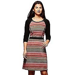 Yumi - Multicoloured stripe pattern 'Andrea' tunic dress