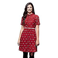 Yumi - Red unicorn print skater dress