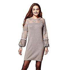 Yumi - Lace sleeves tunic jumper dress