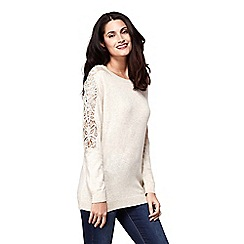 Yumi - Jumper with diamante laced sleeves