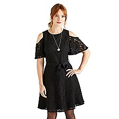 Yumi - Black cutout lace dress