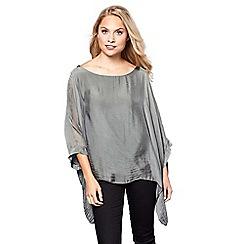Yumi - Grey oversized batwing sleeve top
