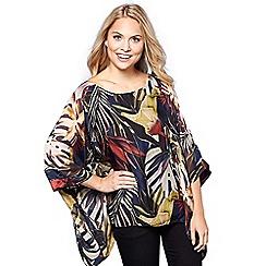 Yumi - Multicoloured jungle printed kimono top