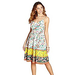 Yumi - Multi-coloured floral print cotton 'Ananda' dress