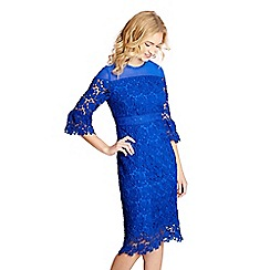 Yumi - Blue floral lace 'guinevere' shift dress