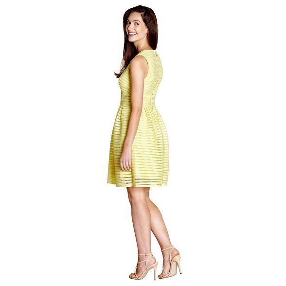 fishnet skater dress Yumi 'Anita' stripe Yellow OxFHpq5