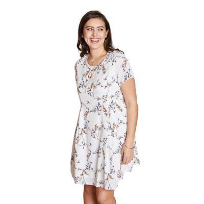 5f91f8dc829 Yumi Curves - Ivory floral print  Gia  plus size tunic dress