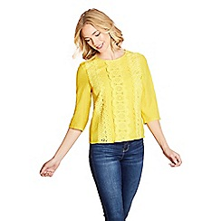 Yumi - Yellow lace front top