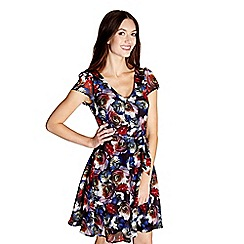 Yumi - Multicoloured floral 'Norah' skater dress