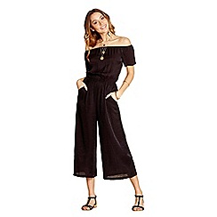 Yumi - Black off the shoulder jumpsuit