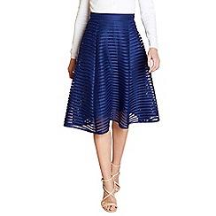 Yumi - Navy fishnet striped skirt