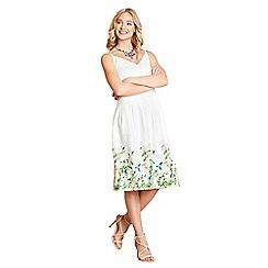 Yumi - White botanical print skirt
