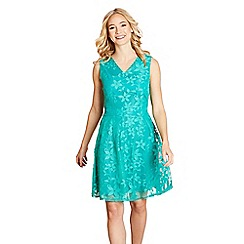 Yumi - Green butterfly lace 'isadora' skater dress