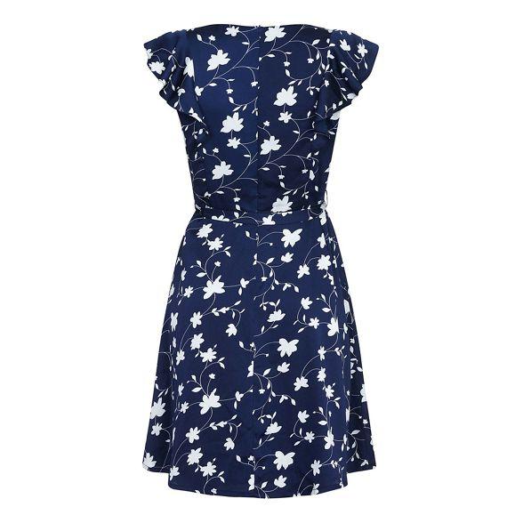 'jarita' dress Yumi print Navy floral skater xOtw01B